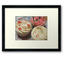 Pretty pink cupcakes Framed Print