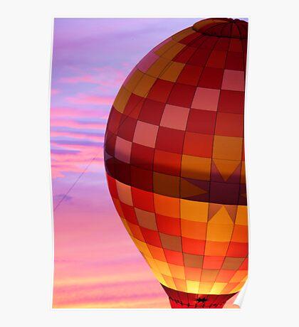 Glowing Hot Air Balloon Poster
