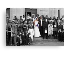 The Bride and Groom - Wedding, London. Canvas Print
