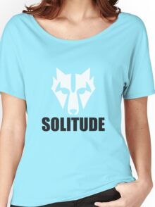 Solitude Wolf Women's Relaxed Fit T-Shirt