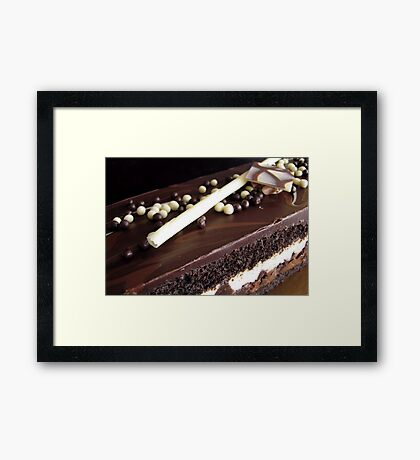Chocolate truffle cake 2 Framed Print