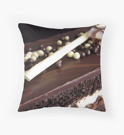 Chocolate truffle cake 2 Throw Pillow