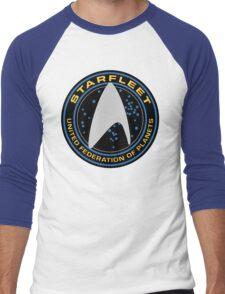 Star Trek - Starfleet / UFP Logo Screen (Screen Accurate!) Men's Baseball ¾ T-Shirt