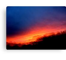 Sequential Sunset Canvas Print