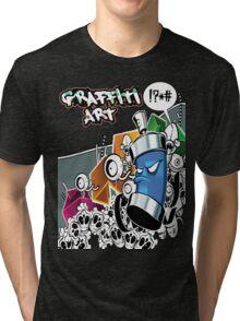 Graffiti Art Tri-blend T-Shirt