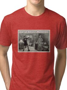 Rare Dr. Jekyll and Mr. Hyde Transformation Poster Tri-blend T-Shirt