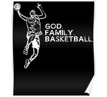 GOD FAMILY BASKETBALL Poster