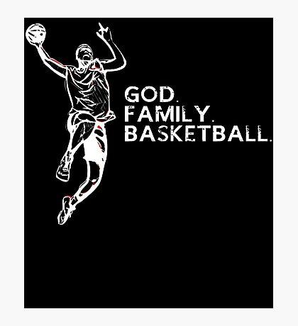 GOD FAMILY BASKETBALL Photographic Print