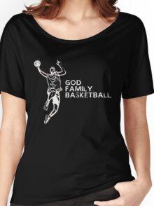 GOD FAMILY BASKETBALL Women's Relaxed Fit T-Shirt