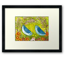 Courtship Under the Bower Framed Print