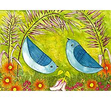 Courtship Under the Bower Photographic Print