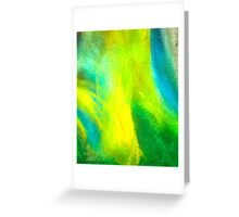 Neon Northern Lights  Greeting Card