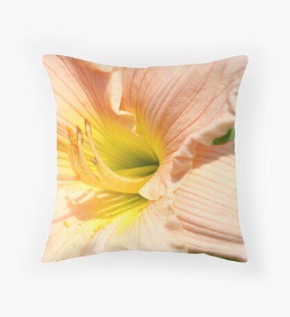 Softest Peach Throw Pillow