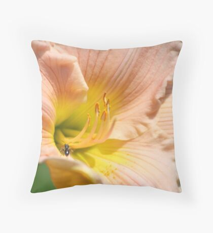 A Little Visitor Throw Pillow