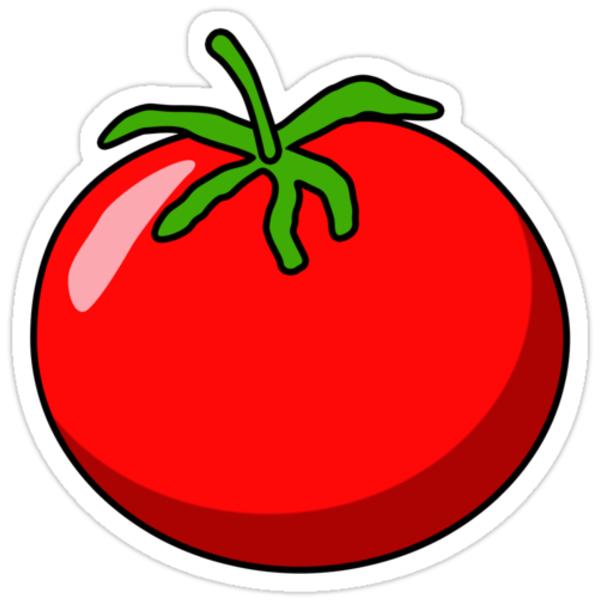 """Cartoon Tomato"" Stickers by mdkgraphics"
