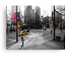 The Colors of Burrard and Hastings Canvas Print