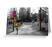 The Colors of Burrard and Hastings Greeting Card