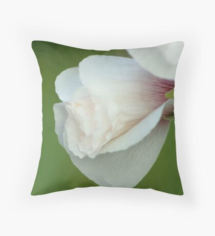 Paper White Throw Pillow