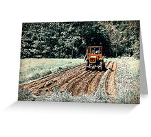 Field. Tractor. Let There Be Potatoes!! Greeting Card