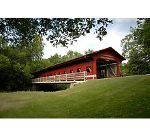 Lake of the Woods Covered Bridge Photographic Print