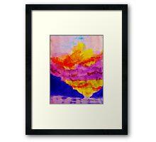 Vibrant sky line , watercolor Framed Print