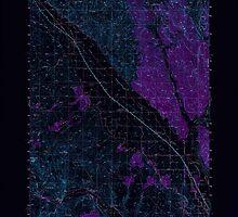 USGS Topo Map Oregon Jamieson 282612 1950 62500 Inverted by wetdryvac
