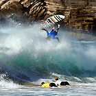 Surfer- South end of Warriewood beach by Doug Cliff