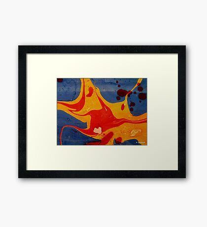 Acrylic Abstract Painting Framed Print