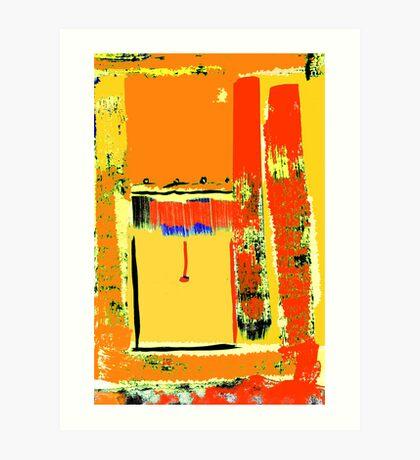 The open blind, St. Kilda ... Art Print