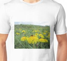 Bee on dandelion (2) Unisex T-Shirt