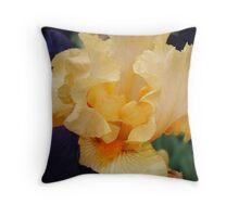 Orange Iris Flower Purple Floral art prints Irises Throw Pillow