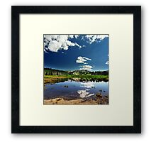 Willow Heights Lake, Big Cottonwood Canyon, Utah Framed Print
