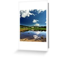 Willow Heights Lake, Big Cottonwood Canyon, Utah Greeting Card