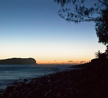 Cook Island and Fingal foreshore, pre-sunrise by Odille Esmonde-Morgan