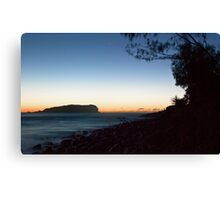 Cook Island and Fingal foreshore, pre-sunrise Canvas Print