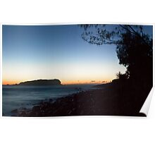 Cook Island and Fingal foreshore, pre-sunrise Poster