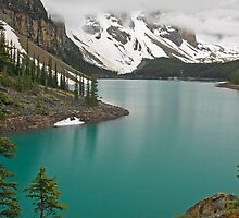 Socked in at Moraine Lake by Michael Collier