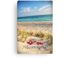 Miss You Canvas Print