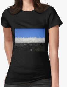Frost on the shed roof Womens Fitted T-Shirt