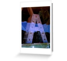 """""""A in A Window"""" Greeting Card"""
