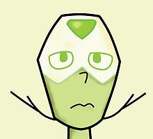 Steven Universe - Peridot Face by jomzojeda