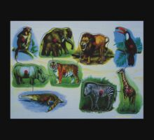 Animal Jigsaw Puzzle Kids Tee