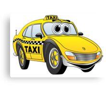 Taxi Cab Car Cartoon Canvas Print