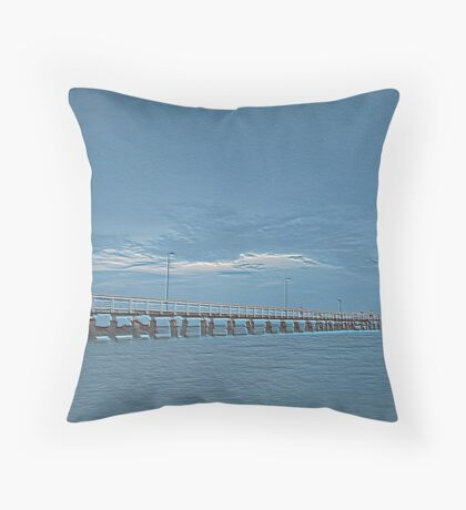 Wellington Point Blue Throw Pillow