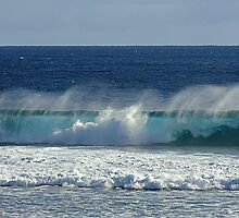 Wave Break at Quobba, Western Australia by Julia Harwood