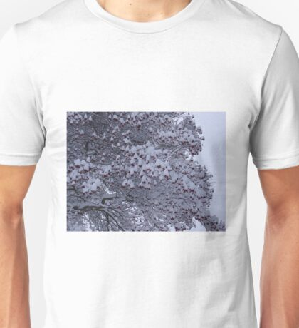 Tree with berries and snow Unisex T-Shirt