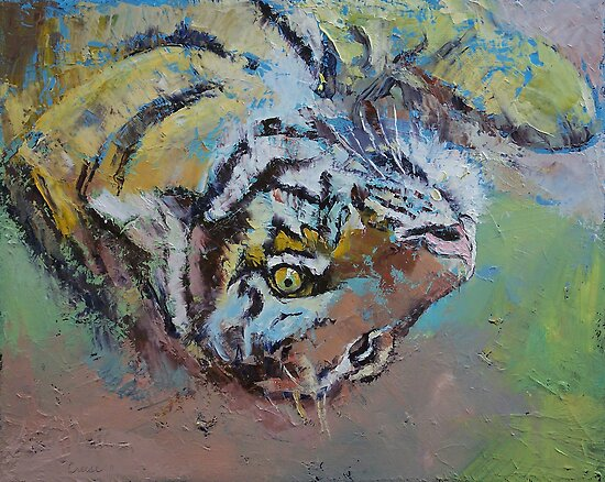 Tiger Play by Michael Creese