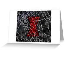 Black Widow Spice Latte Greeting Card
