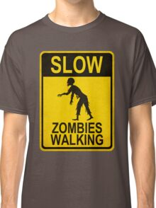 Slow Zombies Walking Classic T-Shirt