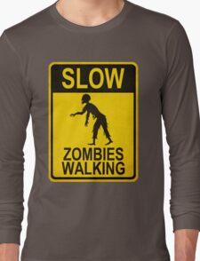 Slow Zombies Walking Long Sleeve T-Shirt